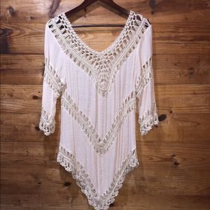 URBAN OUTFITTERS ECOTE BOHO TOP SZ LARGE